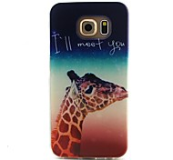 Giraffe Pattern TPU Material Phone Case for Samsung Galaxy S3 S4 S5 S6 S3Mini S4Mini S5Mini S6 edge
