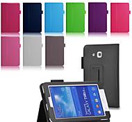 neue schlanke magnetischen Lederbezug Schutzstandplatzfall für Samsung Galaxy Tab 3 lite t110 / 3 7.0 Registerkarte t210 / tab 4 7.0 T230