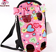 FUN OF PETS® Lovely Pink Heart Shape Front Backpack Bag Carrier for Pets Dogs (Assorted Sizes)