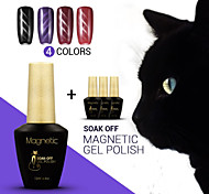Azure 4Pcs/Lot  3D Nail UV Gel Polish Cat Eye Color Nail Gel Polish 48 Colors Nail Art for Nail Beauty (#62+#71+#73+#74)