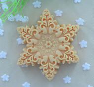 Форма снежинок мыло плесень помады торт шоколадный силиконовые формы, отделочные инструменты посуда