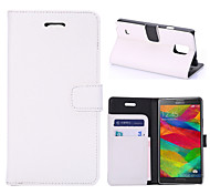 Litchi Texture Leather Case with Card Slots and Holder for Galaxy Note 4