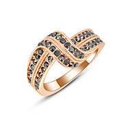 Z&X® Europe Style Zircon Twist Statement Rings Wedding/Party/Daily