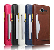 Crazy Horse Pattern Retro Fashion Card Back Shell Phone Leather Cover Bracket forZTE BLADE L3 (Assorted Color)