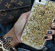 Transparent Shiny Gold Pieces Pattern PC Hard Back Case Cover for iPhone 6 Plus(Assorted Colors)