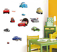 Cartoon Cars Lightning McQueen PVC Wall Sticker Wall Decals