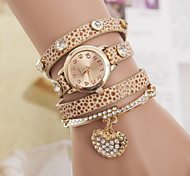 Women's Bracelet Watch With Rhinstone Pendant