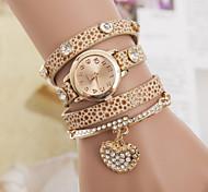 Women's Bracelet Watch With Rhinstone Pendant