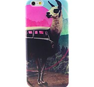 Alpaca Pattern TPU Material Soft Phone Case for iPhone 6