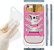 patrón de zapatillas de color rosa TPU vuelta suave para el iphone 6 / 6s