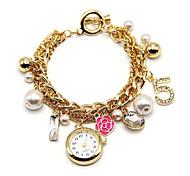 Creative Flower Pendant Watch Bracelets