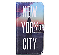 New York City Pattern PU Leather Painted Phone Case For Samsung Galaxy Core Prime G360/G3608
