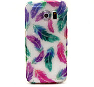 Colored  Feathers Pattern Glitter TPU Cell Phone Soft Shell For Galaxy S3 /S4 /S5 /S6/ S6 edge /S3Mini /S4 Mini
