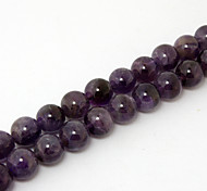 Beadia 39Cm/Str (Approx 38Pcs) Natural Amethyst Beads 10mm Round Purple Stone Loose Beads DIY Accessories