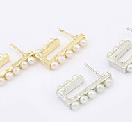 Fashion As Picture Alloy Stud Earrings(As Picture) (1 Pair)