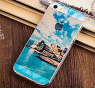 Near Sea The House Pattern TPU Soft Case for iPhone 5/5S