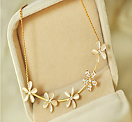 Cusa Korea Fasion Flower Cats-eye Necklace