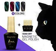 azul 4pcs 12ml / lot olho de gato magnético unhas de gel uv polonês verniz gel da arte do prego de 48 cores disponíveis (# 91 + 92 + # # #