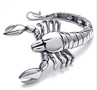 L:21CM W:5CM Fashion Stainless Steel 316L Silver Tone Scorpion Men Cool Link Bracelet