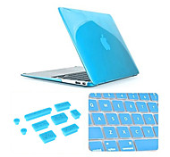 Best Quality Solid Color Crystal MacBook Case with Keyboard Cover and Anti-dust Plugs for MacBook Retina 13.3 inch