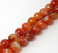 Beadia 38Cm/Str (Approx 37PCS) Natural Agate Beads 10mm Round Stone Loose Beads DIY Accessories