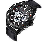 Fashion Men Leather Analog Digital Quartz Sport Military Wrist Watches Multifunction(Assorted Colors)