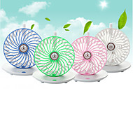 USB 5V Coffee Cup Style Desktop 2-Mode Hanging Strong Wind Fan - White + Green