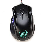 7buttons 2400DPI heavier Left Revolver Wired LOL and CS Game mouse for computer and laptop