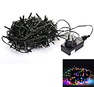 24V 30M 200-LED 8-Mode RGB Light Wedding Christmas Party Decoration String Light - Deep Green (EU Plug)