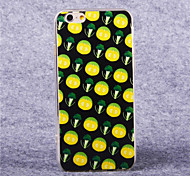 TPU acrílico patrón verduras cubierta suave para el iphone 6