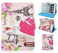 Fashion Architectural Girl Painted Protective Sleeve for iPad mini1/mini2/mini3