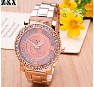 relógio de forma simplicidade cristal de rocha de quartzo animais de pulso analógico das mulheres (cores sortidas)