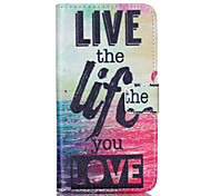 LOVE Pattern PU Leather Phone Case For Nokia N640