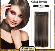 5 Clips Long Straight color 8/613 Synthetic Hair Clip In Hair Extensions For Ladies more colors available