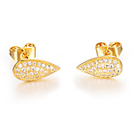 ailaicity®AAA Zirconium 18K Gold Earrings