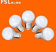 Lampadine globo 9 SMD 2835 FSL G E26/E27 3 W 220 LM Bianco caldo/Luce fredda 5 pezzi AC 220-240 V
