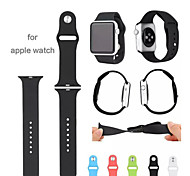 Luxury 5-root Silicone Classic Buckle Original 1:1 Wearables Straps 42mm Watch Band for Apple Watch (Assorted Colors)