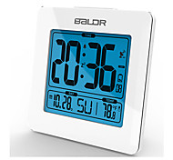Fashion Atomic Snooze Function Clocks Calendar Temperature Table Alarm Clock