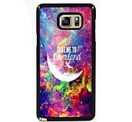 leve-me para Neverland design slim metal de volta caso para Samsung Galaxy nota 3 / nota 4 / nota 5 / nota 5 borda
