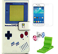 Game Machine Pattern PU Leather Case with Screen Protector and Stand and Dust Plug for Samsung Galaxy Grand Prime G530