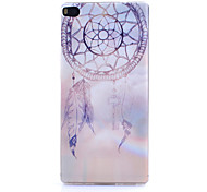 Campanula Pattern Thin Transparent TPU Material Phone Case for Huawei  G7/P7/P8