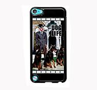 vida do cão de alumínio design de caso de alta qualidade para o iPod touch 5