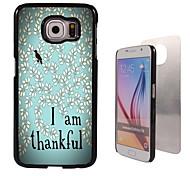 soy de aluminio de diseño agradecidos caso de alta calidad para la galaxia s6 sm-g920f