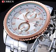 CURREN® Men's Fashion Dress Watch Japanese Quartz Calendar Stainless Steel