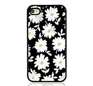 kleine Daisy Leder Venenmuster Hard Case für iPhone 4 / 4s
