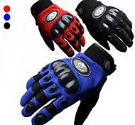 Guantes de moto Dedos completos Nailon/EVA M/L/XL Rojo/Negro/Azul