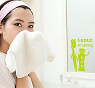 multifunções pvc creme dental e escova de dentes de forma adesivos decorativos