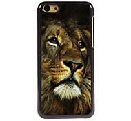 le cas solitaire design en aluminium du lion de haute qualité pour iPhone 5c