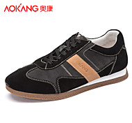 Aokang Men's Shoes Outdoor/Athletic/Casual Suede Fashion Sneakers Black/Blue/Khaki