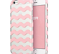 ESR® Beat Series Scratch-Resistant Perfect Fit Clear Hard Back Case with Pink Wave Chevron Pattern for iPhone 6
